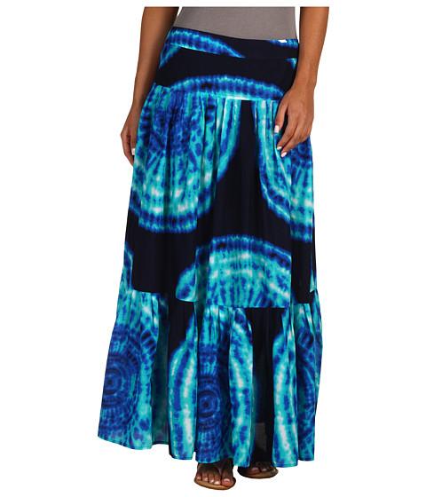 Fuste Jones New York - Pleated Printed Tye Dye Maxi Skirt - Multi