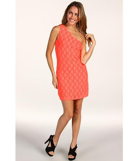 Rochii Type Z - Sidney Lace Dress - Neon Coral