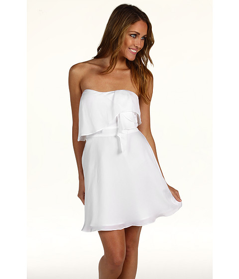 Rochii BCBGeneration - Flounce Bodice Strapless Dress - White