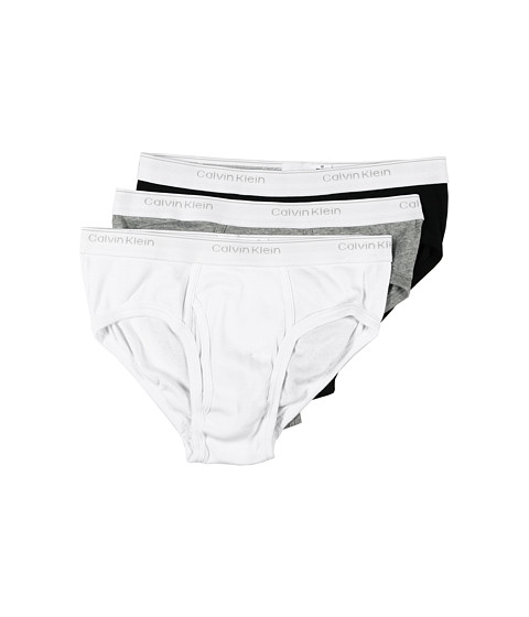 Lenjerie Calvin Klein - Classic Low Rise Brief 3-Pack U1183 - White/Black/Heather Grey