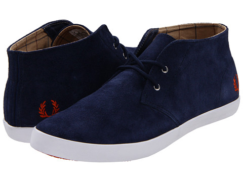 Adidasi Fred Perry - Byron Mid Suede - Carbon Blue