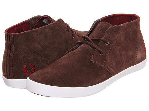 Adidasi Fred Perry - Byron Mid Suede - Dark Chocolate