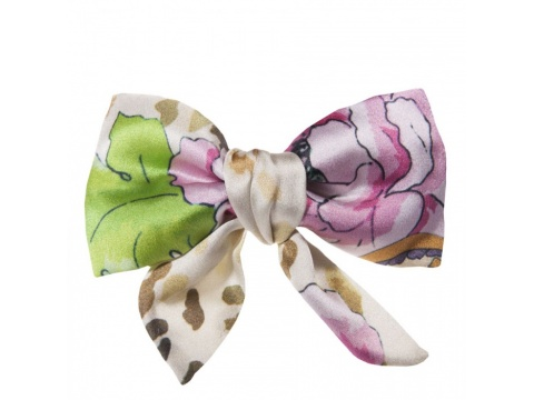 Esarfe si fulare Tie Me Up - Funda clama Marocco - Imprimeu floral roz si crem.