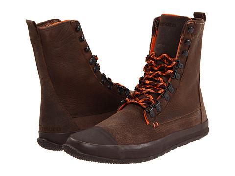 Ghete Tretorn - Klipporone Leather Boot - Brown/Mandarin Orange