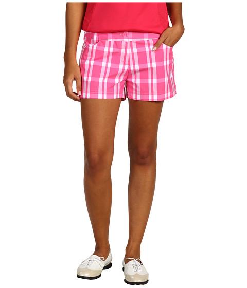 Pantaloni adidas Golf - Fashion Performance Plaid Short - Bright Pink/White