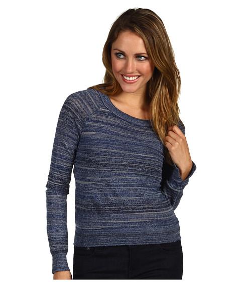 Bluze BCBGMAXAZRIA - Adalyn Slashed Back Knit Sweater - Vintage Blue Space Dye