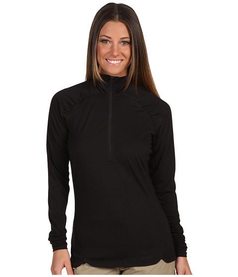 Tricouri Patagonia - Merino 2 Lightweight Zip-Neck - Black