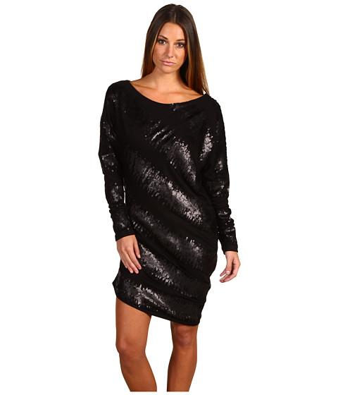 Rochii Badgley Mischka - Mark & James Black Sequin Sleeved Mini - Black
