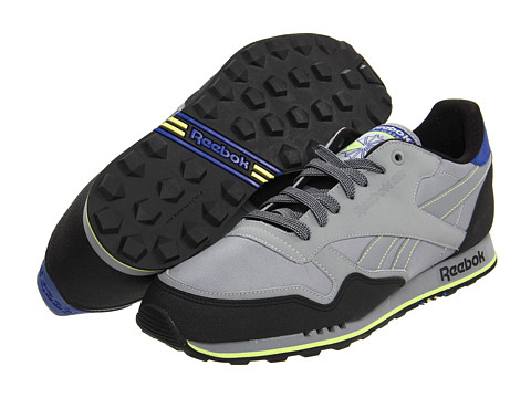 Adidasi Reebok - Classic Leather - Trail - Flat Grey/Black/Ultramarine/Neon Yellow