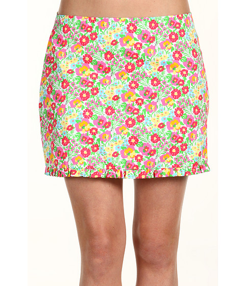 Fuste Lilly Pulitzer - Callie Skirt - Resort White Mini Gardens By The Sea