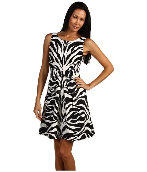 Rochii Kate Spade New York - Jillian Dress - Black Vertical Zebra