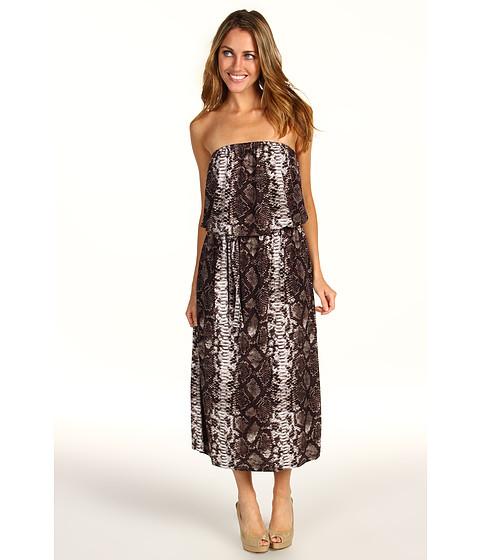Rochii Michael Kors - Bohemian Python Strapless Dress - Java