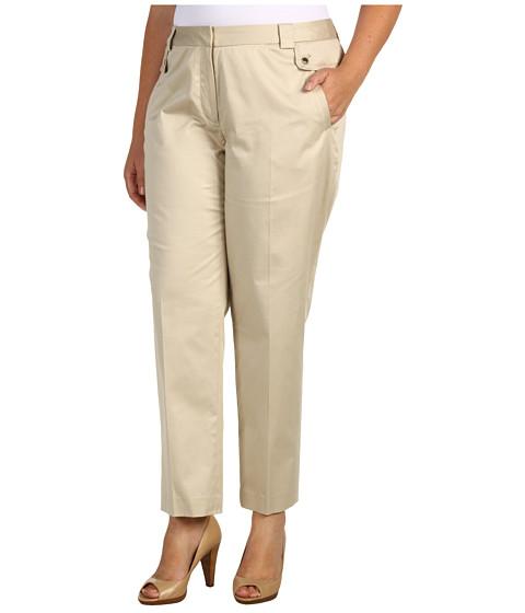 Pantaloni Anne Klein - Plus Size Slim Leg Pant - Pedra