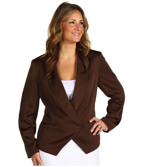 Jachete Anne Klein - Plus Size Soft 1 Button Blazer - Canela