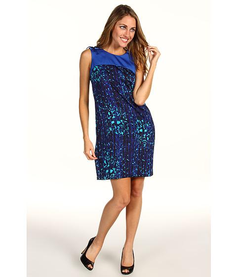 Rochii Anne Klein New York - Petite Mosaic Lion Dress - Agua Multi