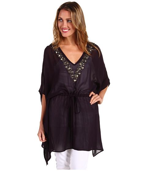 Bluze Michael Kors - Embellished V-neck Kimono Top - Navy