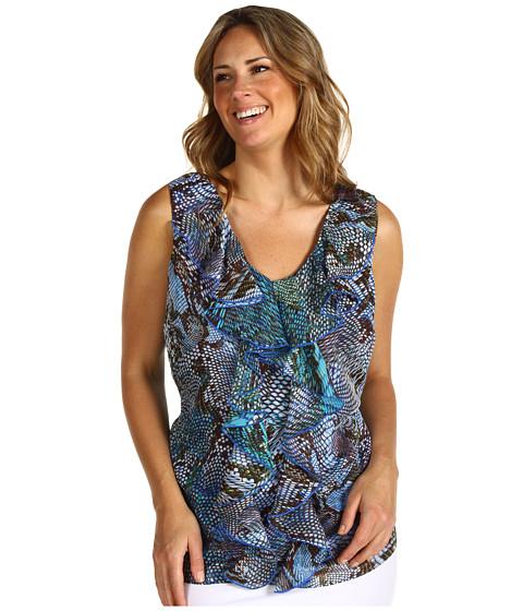 Bluze Anne Klein - Plus Size Python Print Sleeveless Blouse - Multi
