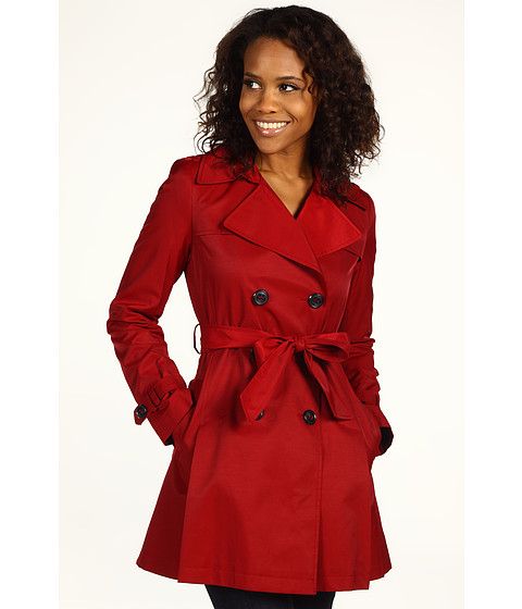 Jachete DKNY - Double Breasted Short Trench - Rebel Red