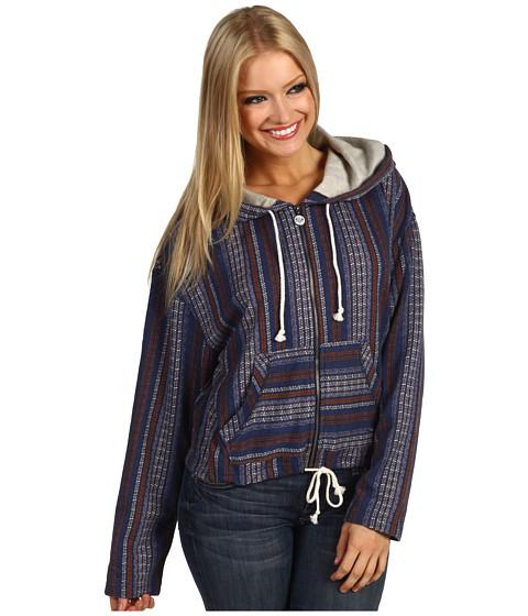 Bluze Roxy - Blue Stream Fleece Hoodie - Open Ocean Stripe