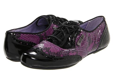 Pantofi Hush Puppies - RNR Jazz Oxford - Black Patent/Purple Snake Print