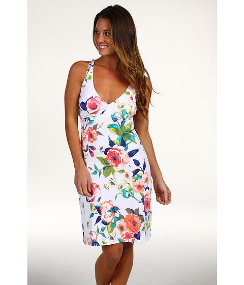 Rochii Tommy Bahama - Beach Blossoms Halter Cup Dress w/ Crossback Straps - Calypso Coral Multi