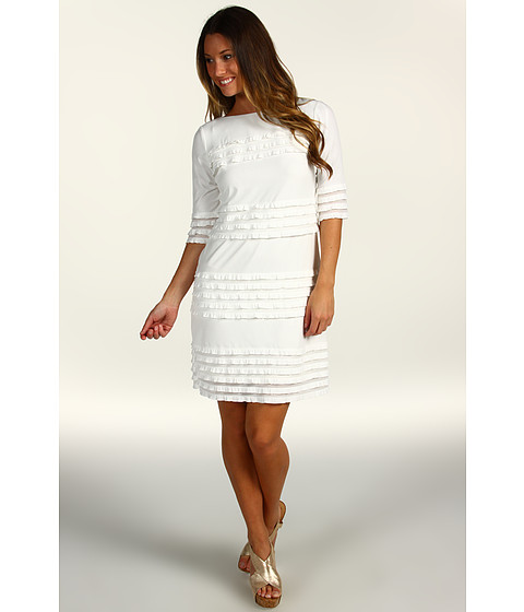 Rochii Donna Morgan - Eyelash Sheath Dress - White
