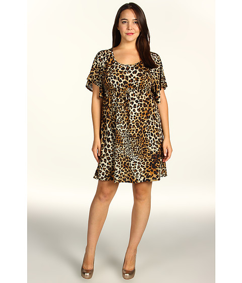 Rochii elegante: Rochie Christin Michaels - Plus Size Kaley Dress - Leopard Print