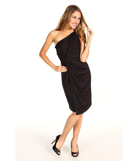Rochii DKNY - Slinky Jersey One Shoulder Slit Front Dress - Black