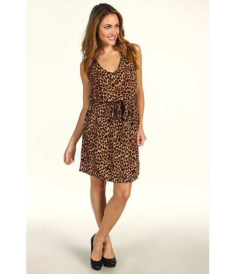 Rochii Lucky Brand - Brinkley Cheetah Print Dress - Brown Multi