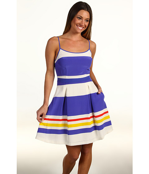 Rochii elegante: Rochie Juicy Couture - Fiji Stripe Strappy Dress - Cobalt Glow