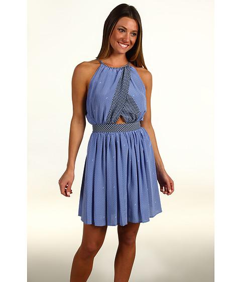 Rochii Juicy Couture - Gem Geo Print Halter Dress - Blue Vista/Atlantis Combo