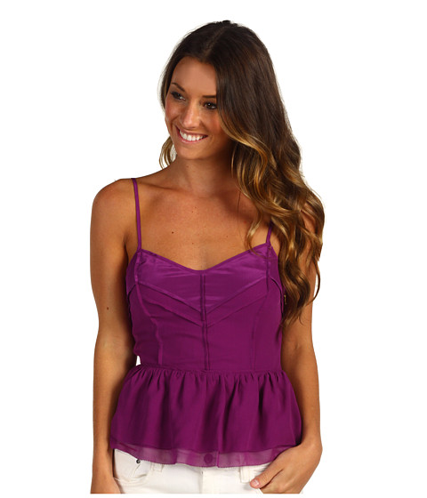 Bluze Juicy Couture - Chiffon Top with Cutout Back - Dark Orchid