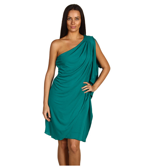 Rochii elegante: Rochie Badgley Mischka - Mark & James One Shoulder Caftan - Jade