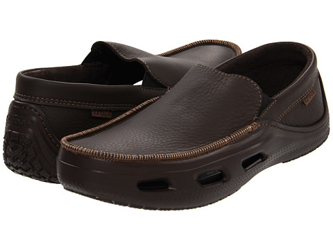 Pantofi Crocs - Tideline Sport Leather - Espresso/Espresso