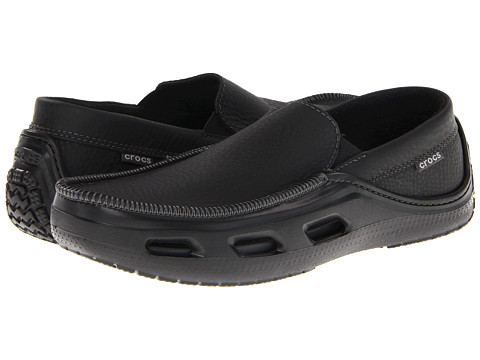 Pantofi Crocs - Tideline Sport Leather - Black/Black
