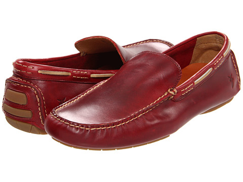 Pantofi Frye - West Driver - Burgundy Smooth Pull Up Leather