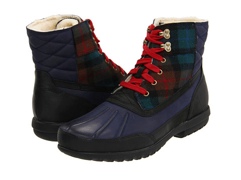 Ghete Cole Haan - Air Rhone Quilted Boot - Navy Waterproof/Plaid
