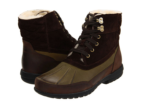 Ghete Cole Haan - Air Rhone Quilted Boot - Olive/Dark Brown Suede Waterpoof