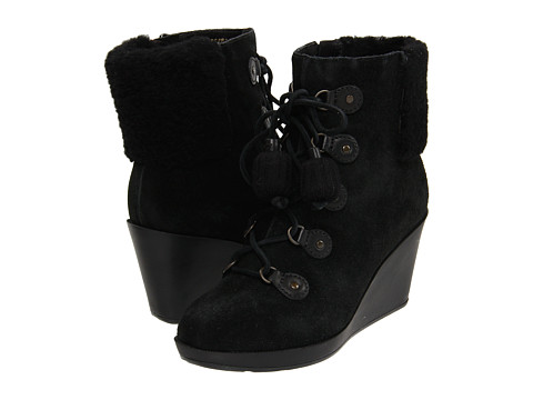 Cizme Cole Haan - Air Tali Shearling Bootie 75 - Black Suede