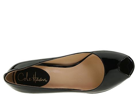 Pantofi Cole Haan - Air Carma Open Toe Pump - Black Patent Leather