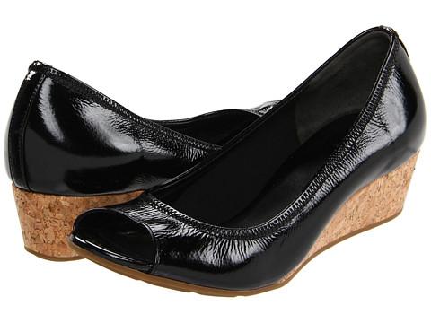 Pantofi Cole Haan - Air Tali OT Wedge 40 - Black Patent/Cork