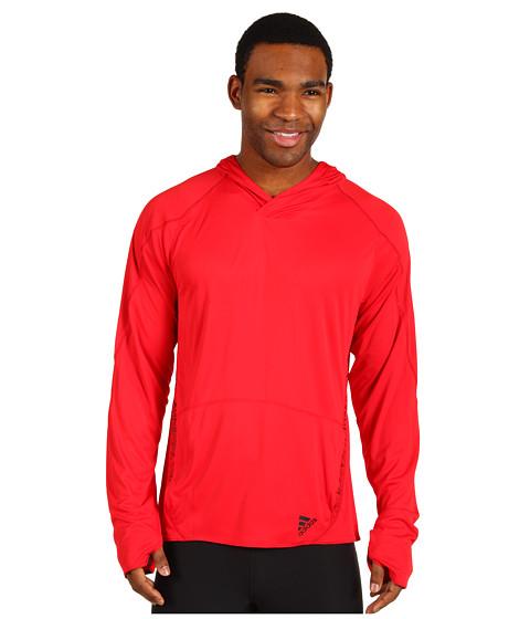 Bluze adidas - ClimaSpeed Pullover Hooded Jacket - Light Scarlet/Black