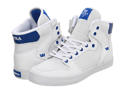 Adidasi Supra - Vaider - White/Royal Perf Action Leather