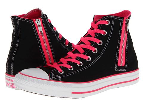 Adidasi Converse - Chuck Taylorî All Starî Side Zip Hi - Black/Pink