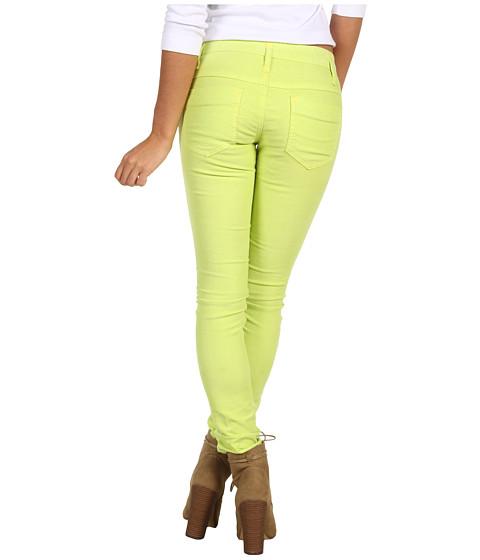 Pantaloni Free People - Skinny Cord - Neon Lime