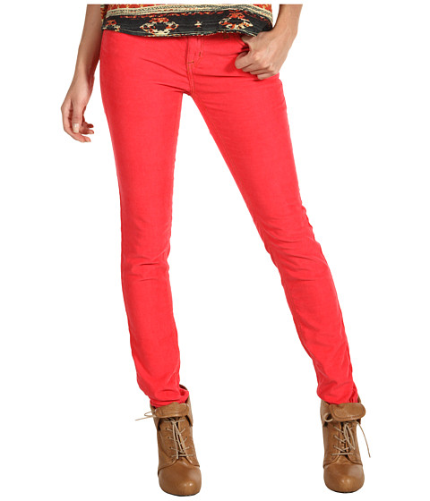 Pantaloni Free People - Skinny Cord - Grenadine