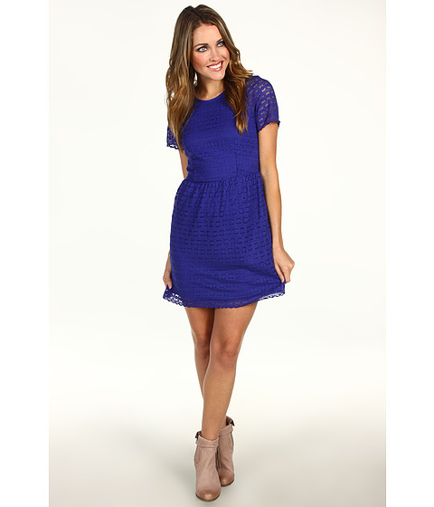 Rochii Free People - Candy Lace Dress - Electric Cobalt