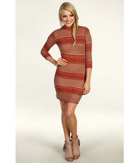 Rochii Free People - Groovy Sweater Knit Dress - Autumn Combo