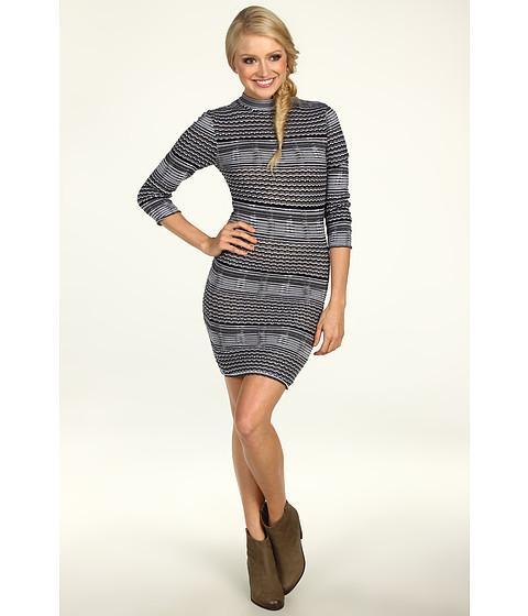 Rochii Free People - Groovy Sweater Knit Dress - Black Combo