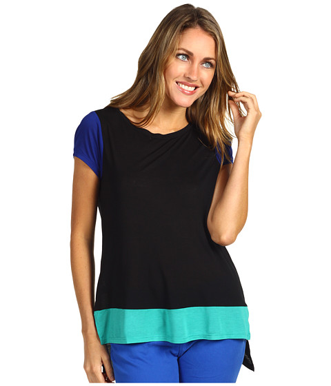Bluze BCBGMAXAZRIA - Viv Colorblocked Tee - Black Combo